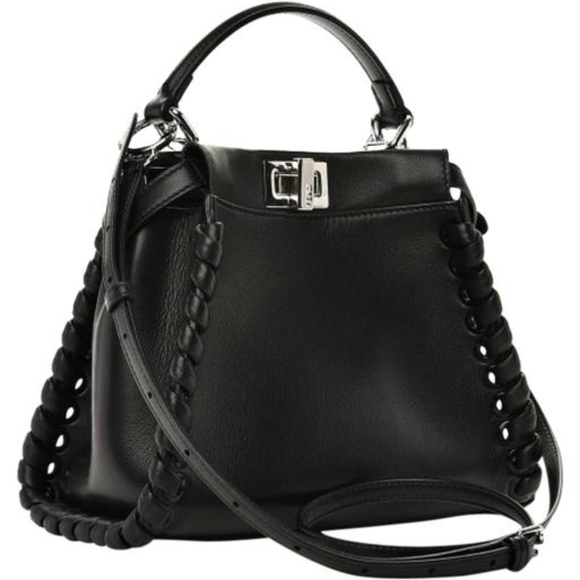 d5082ad6052ffc FENDI Bags | Peekaboo Mini Whipstitched Black Leather | Poshmark